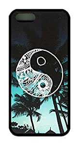 Palm Tree Good Vibes Theme Iphone 5 5s Case TPU Material