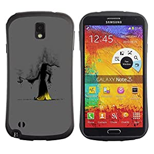 "Pulsar iFace Series Tpu silicona Carcasa Funda Case para Samsung Note 3 , Wizzard Bruja Smoke Hood Fairytale historia de la historieta"""
