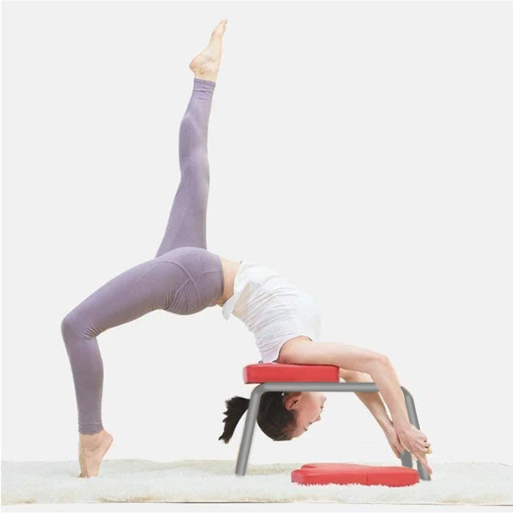 CCLIFE Banc de Yoga avec Appui-t/ête Chaise de Yoga /à Inversion Appui-t/ête Banc de Yoga Tabouret