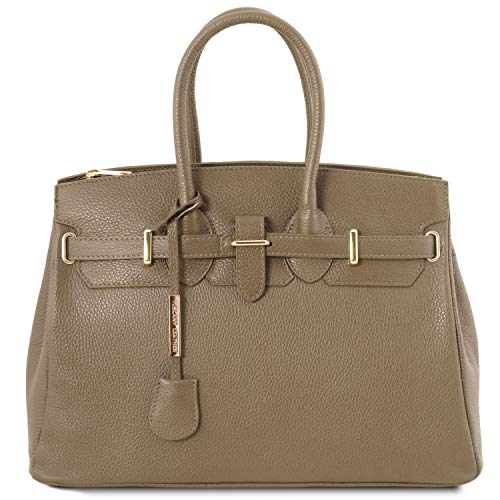 a Talpa accessori Borsa scuro media TL Leather Talpa TL141529 oro Tuscany Scuro con Bag mano x4wPIwpq