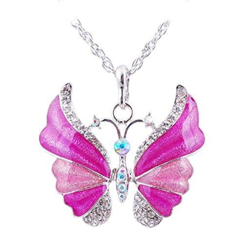 Eyourlife Fashion Butterfly Rhinestone Necklace