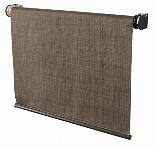 Coolaroo Designer Exterior Cordless Roller Shade 4ft by 6ft Sandalwood