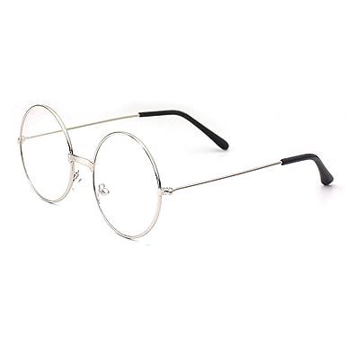 08c548f9decf1f Hibote Fille Garçon lunettes rondes - Verres à lentilles transparentes  Cadre Geek Nerd Eyewear Lunettes