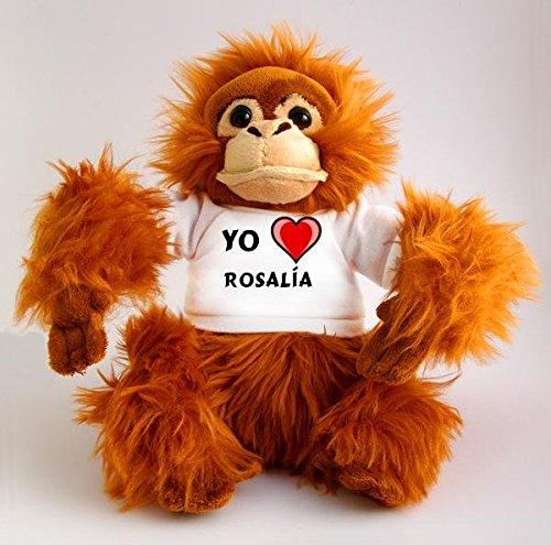 Orangután de peluche (juguete) con Amo Rosalía en la camiseta ...