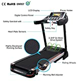 Leoneva Fitness Folding Electric Treadmill Exercise Equipment Home Gym Inclines Motorized Walking Running Machine WiFi Color Touch Screen (Type 2)