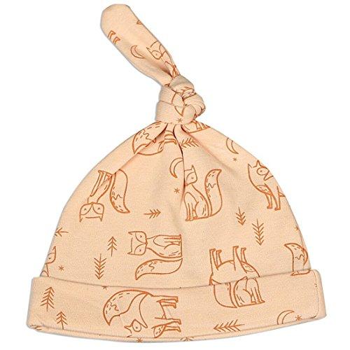 Silkberry Baby Organic Cotton Knot Hat Peach Fox 0-6m