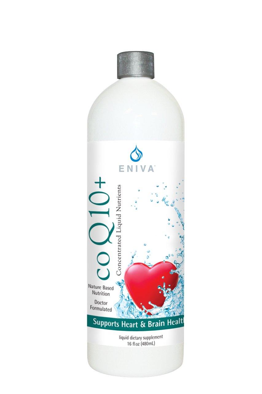 Eniva CoQ10 Plus Liquid Complex CoEnzymeQ10 and L-Carnitine Concentrate (16 oz).