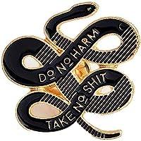 Janedream Women Bohemian Snake Brooch Banquet Badge Pins Buckle Badge Backpack Bag Pins Punk