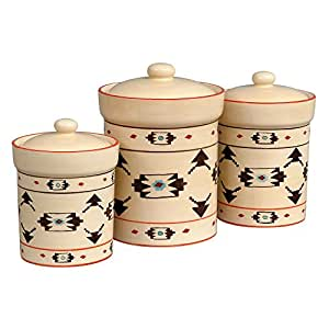 western kitchen canister sets taos southwestern canister set 3 pcs 22657