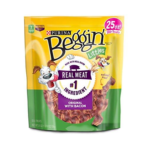 Purina Beggin' Littles Bacon Flavor Dog Treats - 25 oz. Pouch - Bacon Flavor Dog Snacks