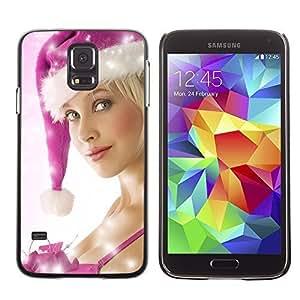 YOYO Slim PC / Aluminium Case Cover Armor Shell Portection //Christmas Holiday Sexy Hot Girl Woman 1026 //Samsung Galaxy S5