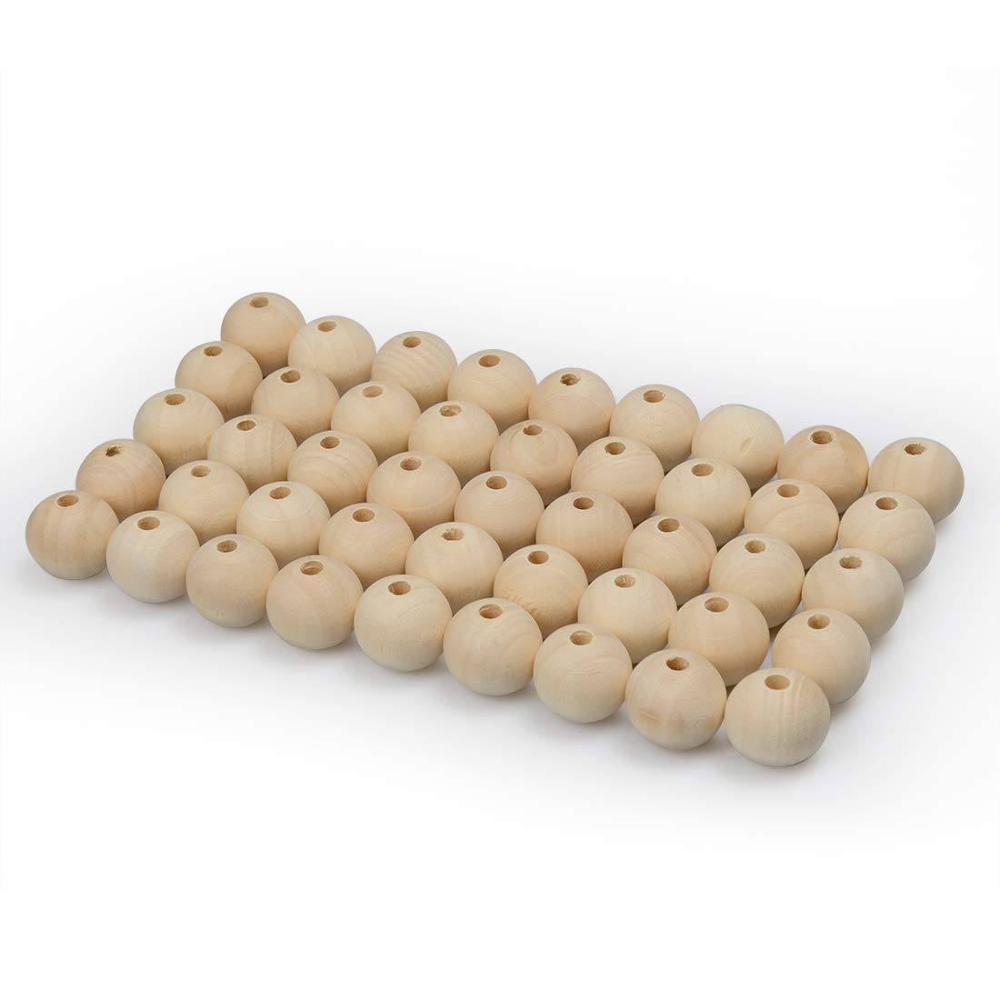 16mm Wood Beads 20mm Unfinished Natural Round Spacer Wooden Bead 180Pcs Total