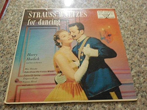 Vintage Collectible Dancing Glass - Strauss Waltzes for Dancing, Harry Horlick, Vocalion VL 3608 NM Vinyl