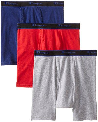 k Performance Cotton Regular Leg Boxer Briefs, Assorted, Large ()