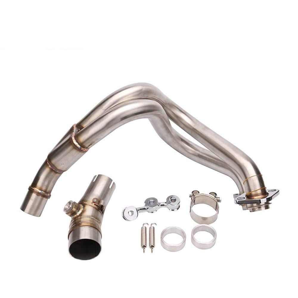オートバイのステンレス鋼の排気管の中間インターフェイスER-6N / ER-6F転換の付属品のための多用性がある川崎の取り替え (Color : Titanium)  Titanium B07S3TW3SG