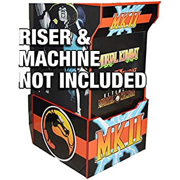 Asteroids Arcade 1up Cabinet Riser Graphic Decal Sticker