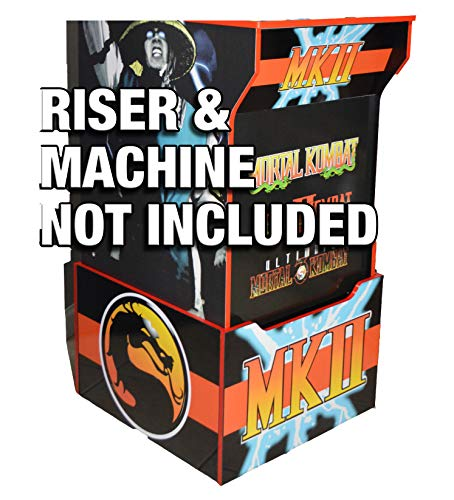 Gulf Coast Decals Arcade1up Cabinet Riser Graphics - Mortal Kombat 2 II Graphic Sticker Decal Set (Arcade Machine Mortal Kombat)