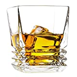 Whiskey Glasses , Gift Pack Set Of 2-Premium Lead-Free Crystal Glass, Old Fashioned Whiskey Glasses 10-Ounce, Unique, Elegant, Dishwasher Safe, Glass Liquor or Bourbon Tumblers,Ultra-Clarity Glassware