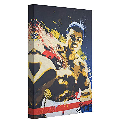 Officially Licensed Muhammad Ali Pop Art Wrapped Canvas Wall Art 36 H x 24 L