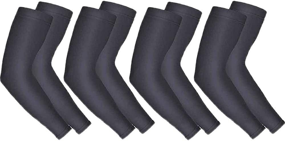 Sun Protection Cooling Arm Sleeves for Men Women, Running Cycling Golf Football 4 Pairs