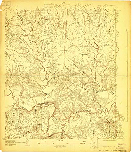 (YellowMaps Zavalla 3 c TX topo map, 1:24000 Scale, 7.5 X 7.5 Minute, Historical, 1928, 26.9 x 23.5 in - Paper )