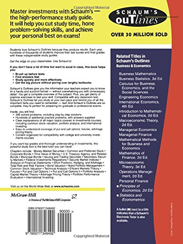 Schaum's Outline of Investments by McGraw-Hill Education