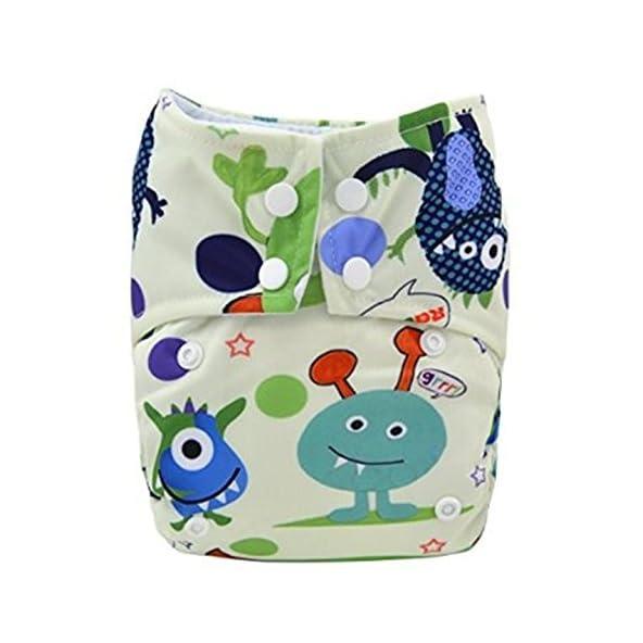 Alva Baby Classical AIO S45 One Size Cloth Diaper with Sewn-in 3-layer Microfiber Insert AIO (1Piece)