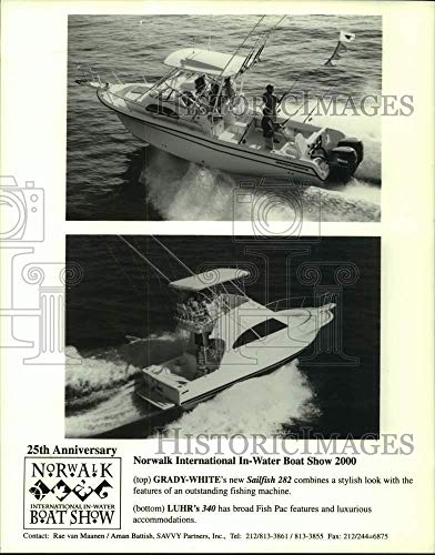 2000 Press Photo Grady-White Sailfish 282 & Luhr 340 Fishing Boats - sia01288