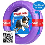 Dog Toy - Interactive Large Medium Dog Training - Fetch Toy - Dental Healthy - Dog Toys Set 2 Rings by Puller Midi Plus - Size 8 inches
