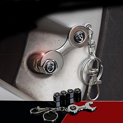 OPAYIXUNGS opay ixungs Cappucci valvola polvere di pneumatici Valvola con portachiavi Toyota logo