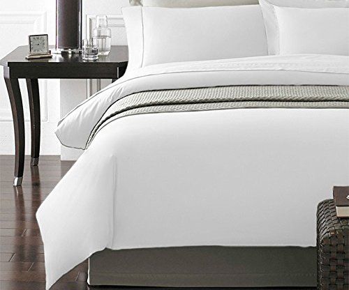 Spirit Linen Hotel 5Th Ave New York Collection 3-Piece Luxurious Ultra Soft Duvet Cover with Pillow Cases, Full/Queen, White