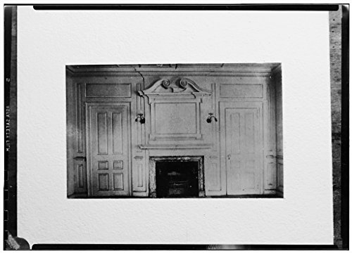 8 x 12 Photo 4. Historic American Buildings Survey, Frank Farley, Photographer, Parlor Fireplace, Southwest Room. - Captain John Maudsley House, 228 Spring Street, Newport, Newport After 1933 78a by Vintography