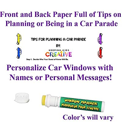 2020 Graduation Parade Car Decorations Kit, EVERYTHING from Planning To Personalize NAME Writer: Toys & Games