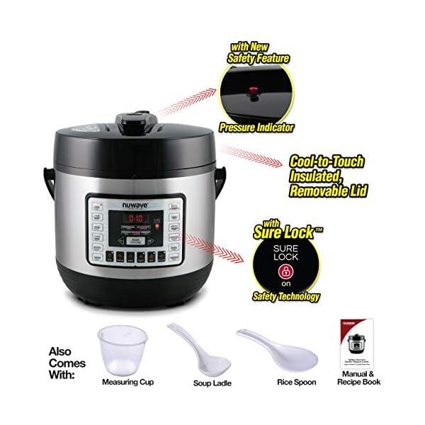 NUWAVE NUTRIPOT 6-Quart DIGITAL PRESSURE COOKER with Sure-Lock Safety System; Dishwasher-Safe Non-Stick Inner Pot; 11… 4