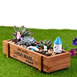New Wood Planter Box Garden Yard Rectangle Flower Succulent Container Plant Pot