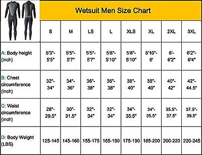 Realon Wetsuit Men Full 3mm Surfing Suit Shorty 3/4mm, 4/5mm Diving Snorkeling Swimming Jumpsuit