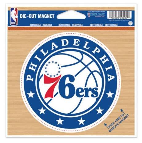 (WinCraft NBA Philadelphia 76ers Color 4.5 x 6 Die Cut Magnet)