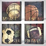 """great sports wall decals Green Frog Sports Themed Canvas Wall Art Great Gift, 14"""" x 14"""""""
