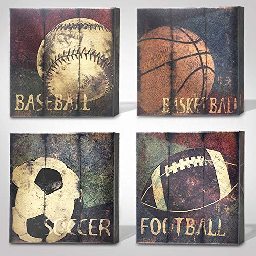 "Green Frog Sports Themed Canvas Wall Art Great Gift, 14"" x 14"""