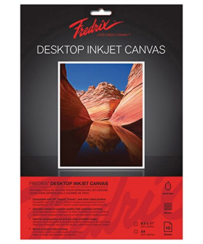 Tara Materials Fredrix TAR-3520 8.5 x 11' Inkjet Canvas (10 Pack)