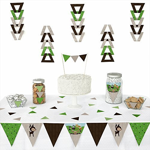 Woodland Creatures Triangle Birthday Decoration