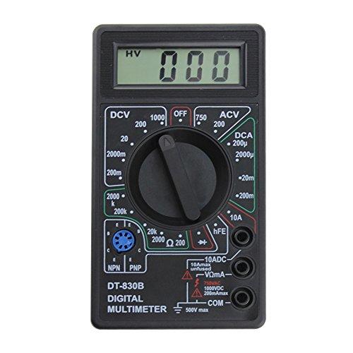AMZVASO DT-830B LCD Digital Display Multimeter AC/DC 750/1000V Amp Volt Ohm Tester Meter Voltmeter Ammeter Current Tester ( 1pcs random color)