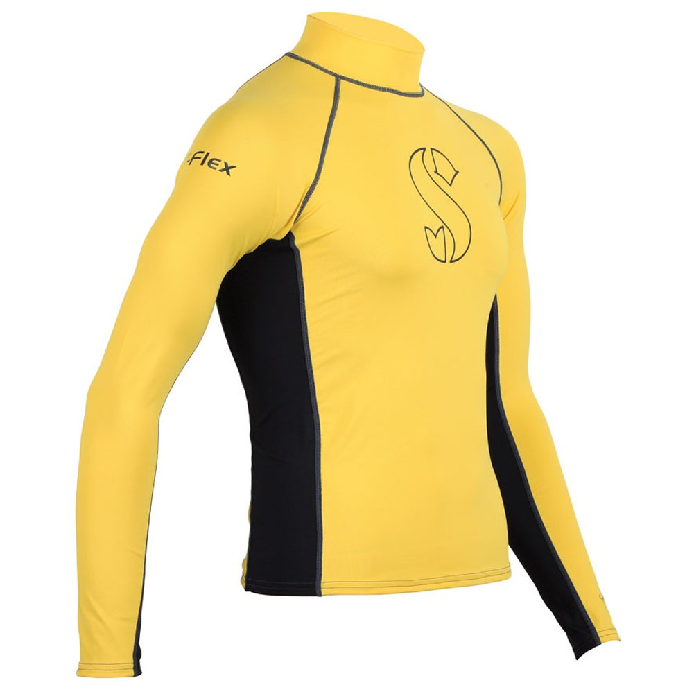 【新発売】 SCUBAPRO T Long Flex Long Men Sleeves Rash Guard Men/ Black/ Yellow S B00L4YIZF8, Yテニスショップ:0a9f06e2 --- mcrisartesanato.com.br