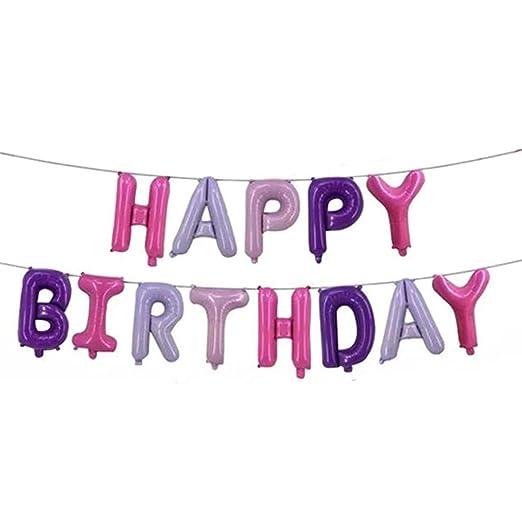 Warmiehomy Happy Birthday Globos, cumpleaños, Letras Globos ...