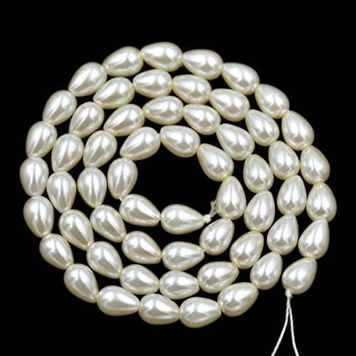 AD Beads Top Quality Czech Glass Pearl Pear Teardrop Loose Beads 15.5