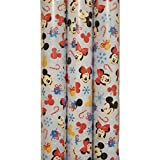 Fabrique' Faces of Mickey and Minnie Mouse Theme Gift Wrap -Christmas Wrapping Paper 20 sq ft. (1 Roll)