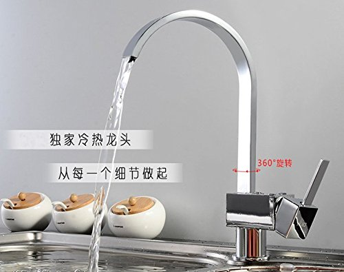Almi Wasserhahn, vier seitlichen Hahn, alle Kupfer Wassertank, Kaltes und Warmes Wasser Küche Wasserhahn.