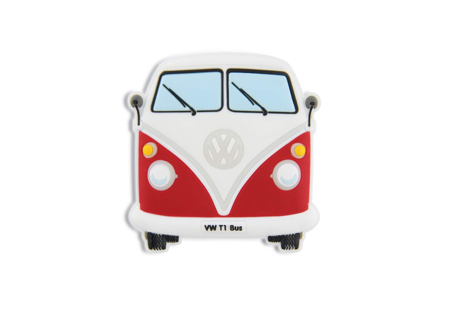 BRISA VW Collection VW T1 Bus Rubber Magnet - Front/Red