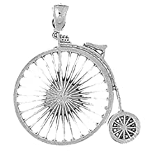 Sterling Silver Bicycle Pendant - 29 mm