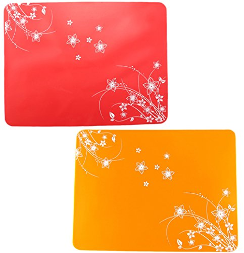 Lesirit Waterproof Non-slip Kids Silicone Placemats Washable